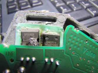 Uszkodzny tranzystor ON5194